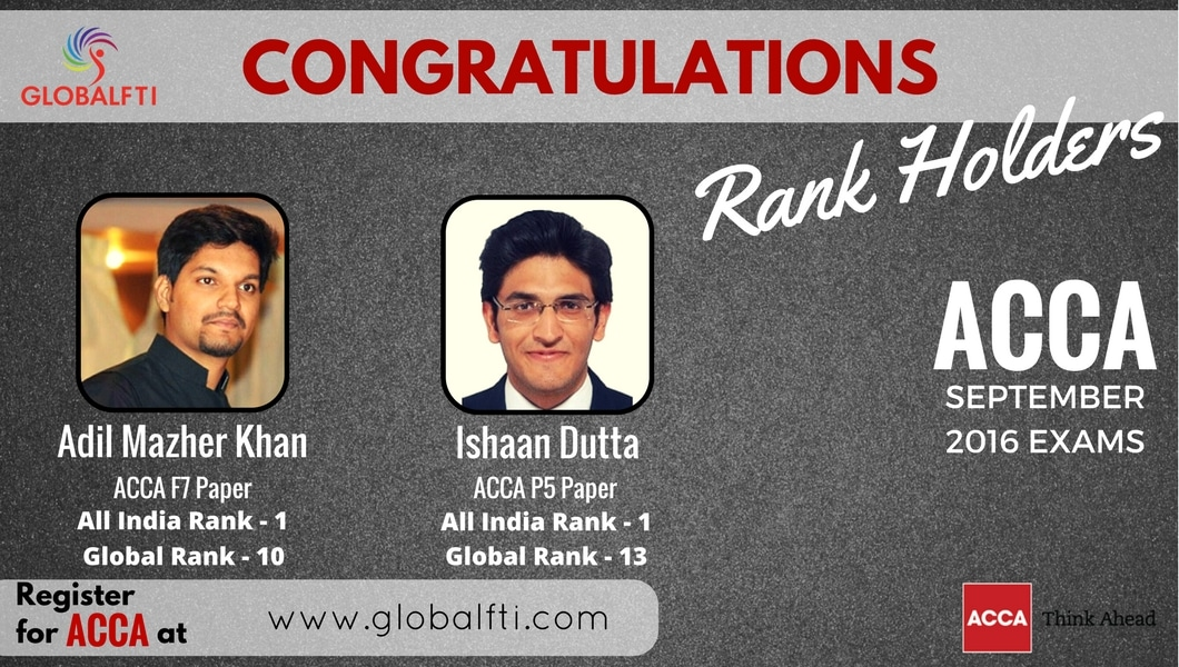 ACCA Global Rank Holders from FTI Sep 2016