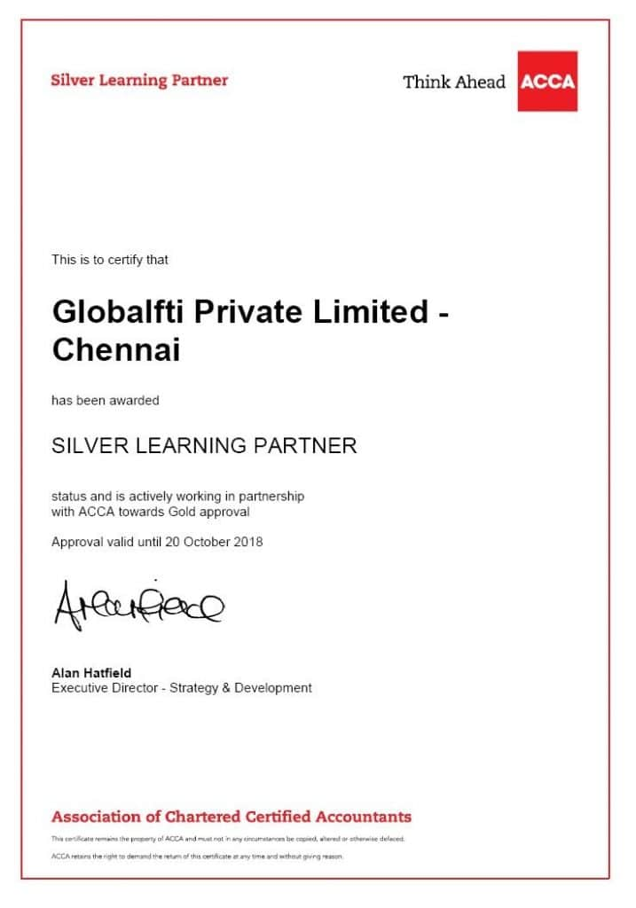 ACCA Training in Chennai GFTI SIlver LP