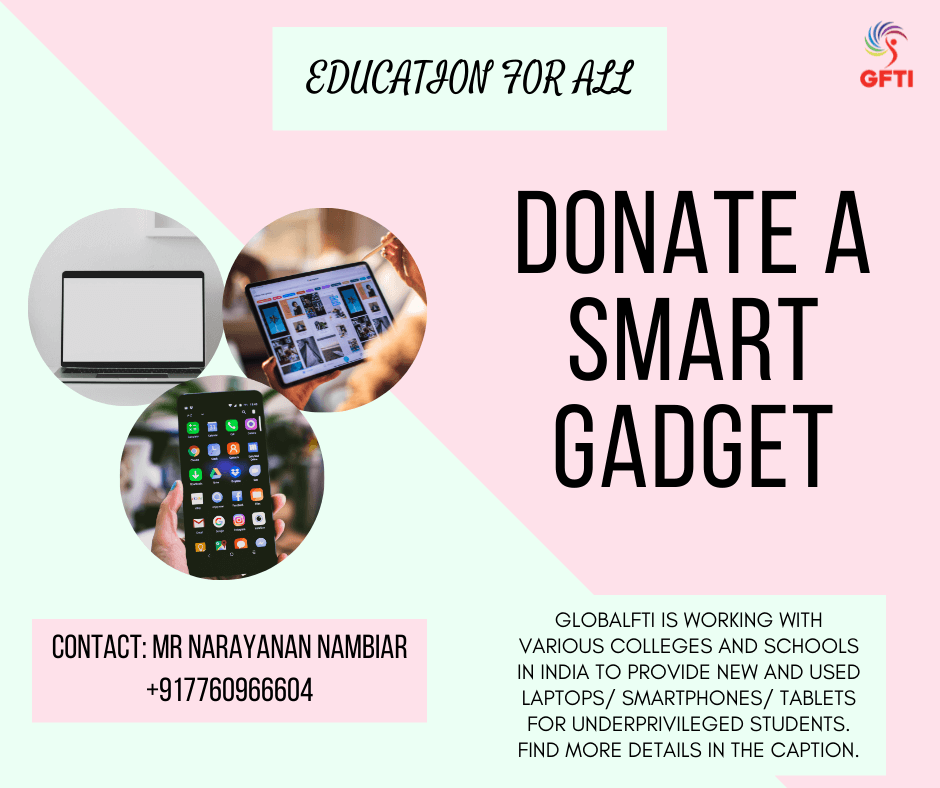 Donate a smart gadget to an underprivileged student in India