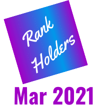 Rank Holders March 2021